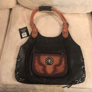 ... Angel Ranch concealed weapon leather hobo purse ... 515ba567b77dd